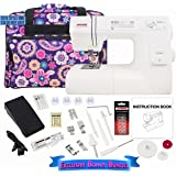 Janome HD3000 Sewing Machine Bundle with Purple Tote, Janome bobbins and Needles