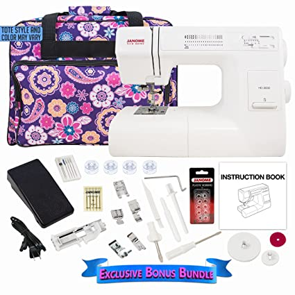 Amazon.com: Janome HD3000 máquina de coser bocinas Bundle ...