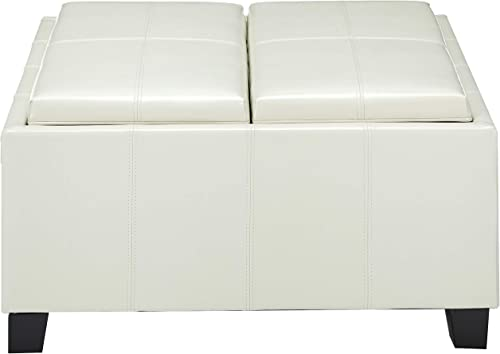 Christopher Knight Home Mansfield PU Storage Ottoman
