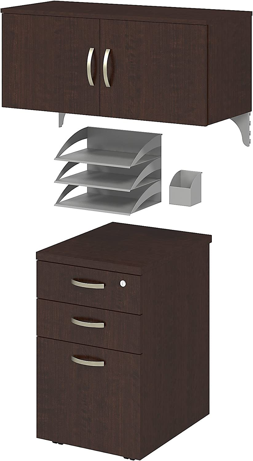Bush Business Furniture Office in an Hour Storage and Accessory Kit in Mocha Cherry