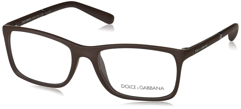 4cdc1ea0c55 Amazon.com  Dolce   Gabbana Men s DG5004 Eyeglasses Brown Rubber 53mm  Shoes