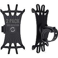 (2 Pack) Bike Phone Mount 360 Rotation, Phone Mount Bike Accessories Bicycle Motorcycles, Phone Holder for Bike…