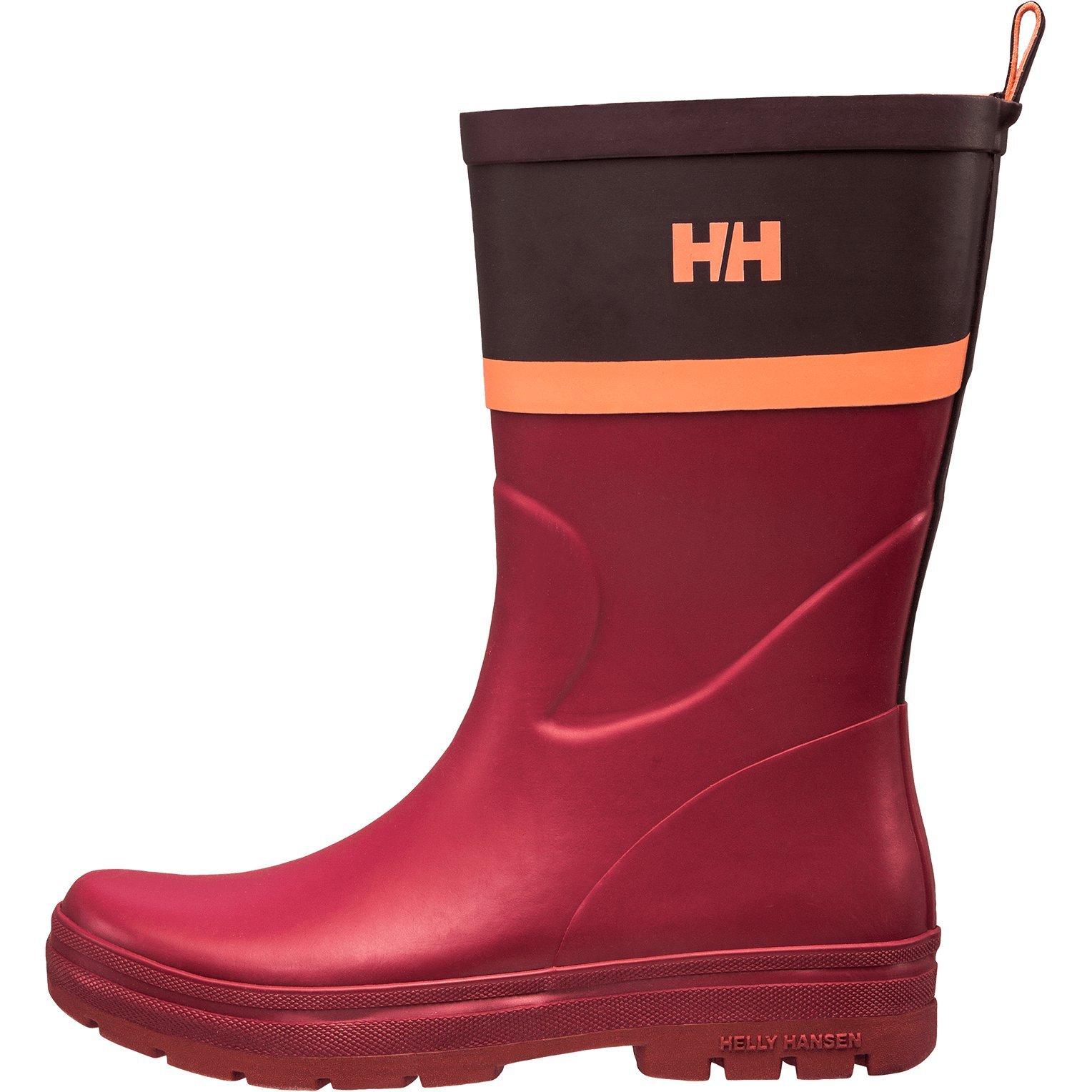 Helly Hansen Womens Waterproof Midsund 2 Graphic Rain Boots, Plum/Wild Rose/Shell Pink (Matte), 8