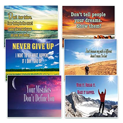 Creanoso Success Inspirational Quotes Postcards (12-Pack) – Inspiring Cards  for Life Encouragement and Success – Great Stocking Stuffers for Men, ...