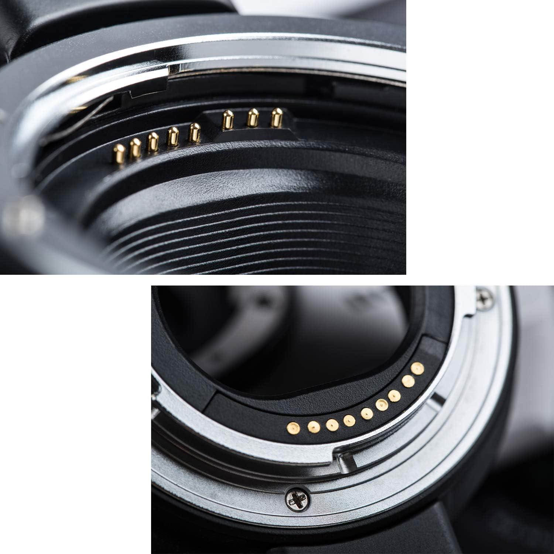 EF-M Support Digital Camera M3/M5/M6/M10/M50/M100 Viltrox /électronique Mise au Point Automatique Adaptateur de Monture dobjectif pour Canon EF//EF-S Objectif pour Canon EOS-M sans Miroir