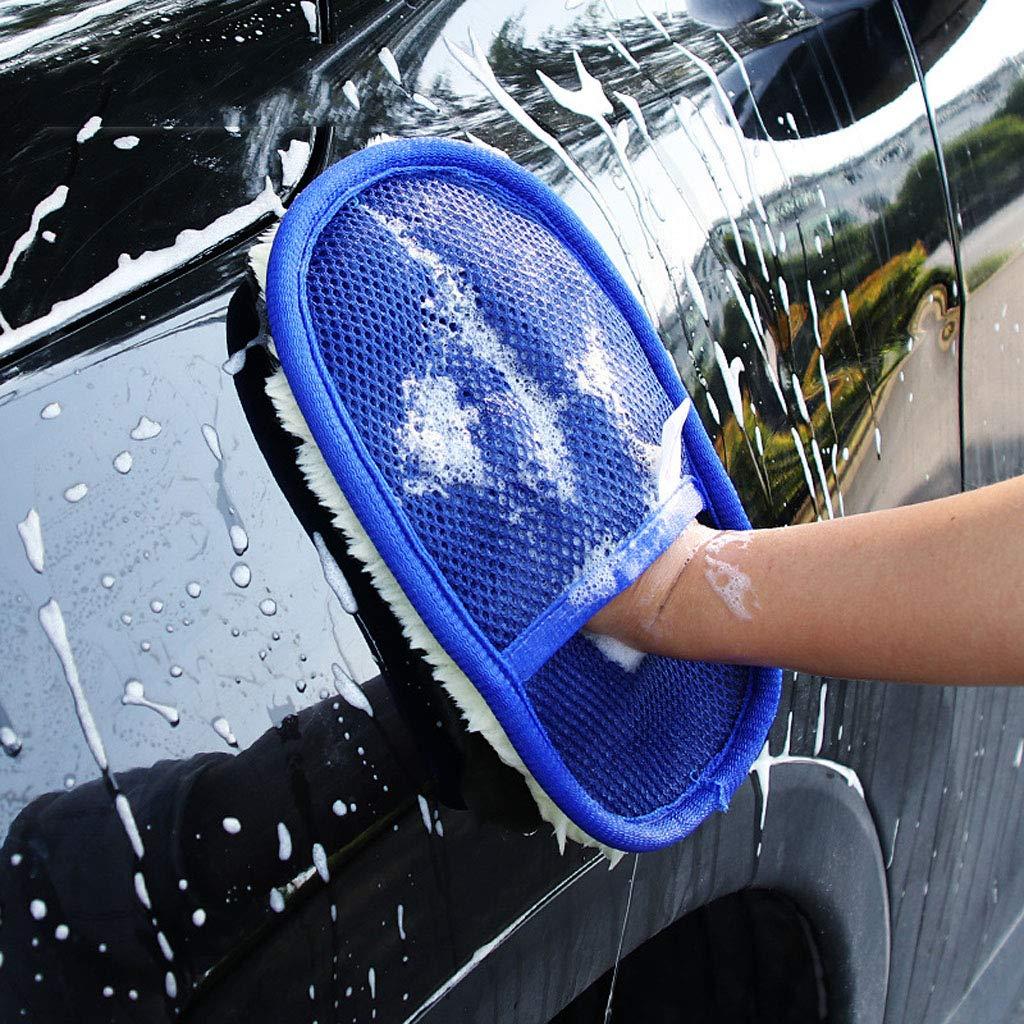 Blue 1Pcs FABSELLER Car Cleaning Polishing Waxing Foam Sponge Microfiber Vehicle Wax Applicator Washing Cleaner Pad