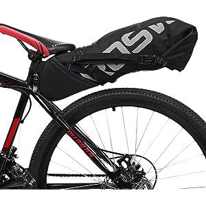 6a2d45ff705 Roswheel Waterproof Bike Pannier Bags - 9L Waterproof Bike Rear Seat Bag  Accessories for Luggage
