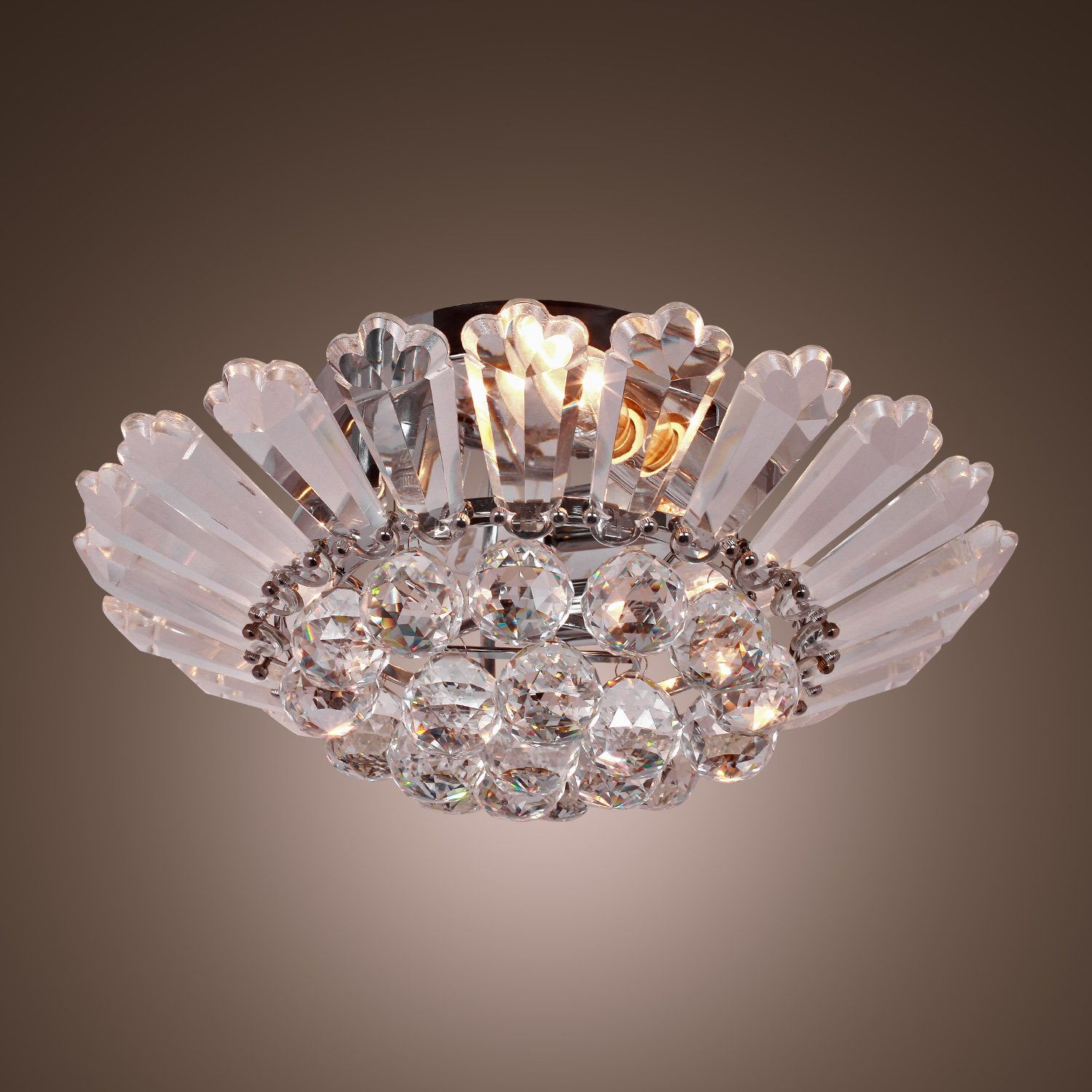Lightinthebox modern semi flush mount in crystal feature home lightinthebox modern semi flush mount in crystal feature home ceiling light fixture chandeliers lighting for dining room bedroom living room close to mozeypictures Image collections