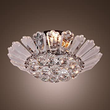 Lightinthebox modern semi flush mount in crystal feature home lightinthebox modern semi flush mount in crystal feature home ceiling light fixture chandeliers lighting mozeypictures Images