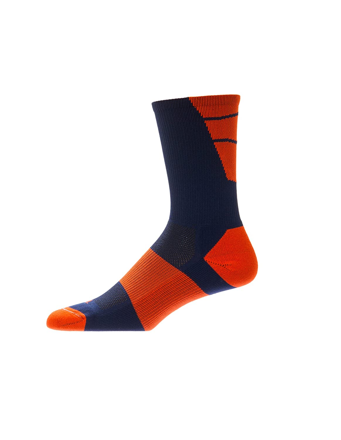 CSI Point Guard Performance Crew Socks Made In The USA Navy/Orange 6MAN6009