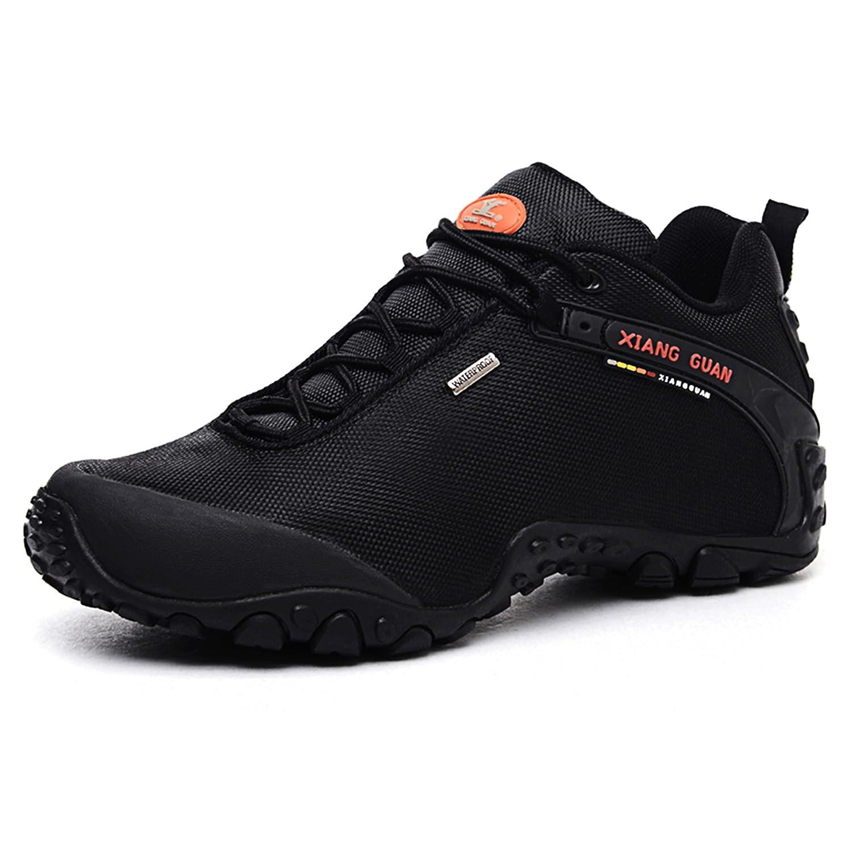 XIANG GUAN Zapatos de deporte y aire libre resistente al agua para montaña zapatillas deportivas para hombre 81283 negro