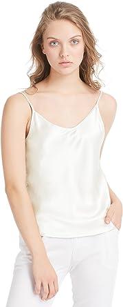 LilySilk Top Mujer Tirantes 100% Seda Natural de 19 MM Camiseta Tirantes para Niña Camisola Sencilla Camisa Tirante Preciosa Blusa Tirante Estilo Clásico: Amazon.es: Ropa y accesorios