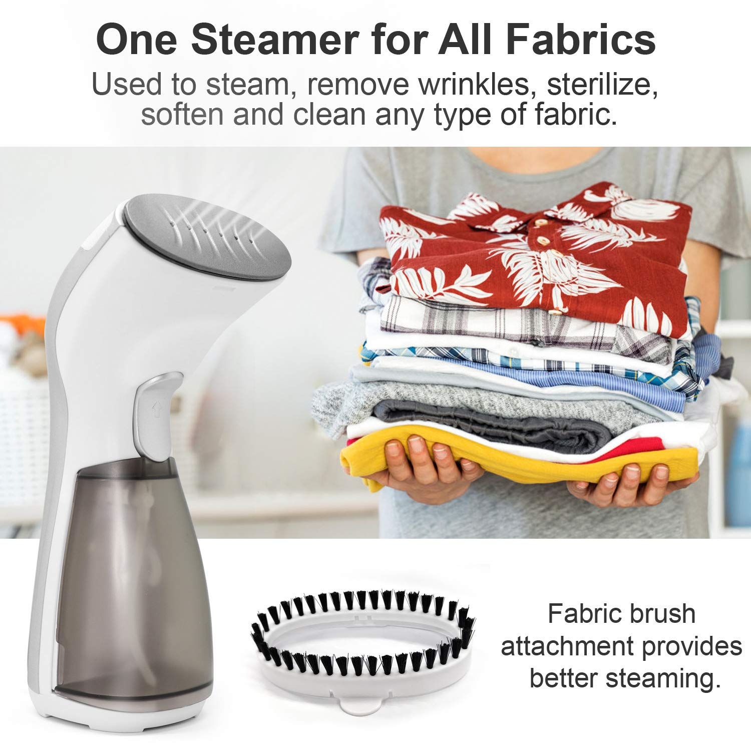 Compact Iron Steamer for Clothing Powerful Iron Wrinkles Remover for Travel//Home Any Fabrics Portable Travel Garment Steamer Mini Handheld Steamer for Clothes Garment IDEER,Silver 06032