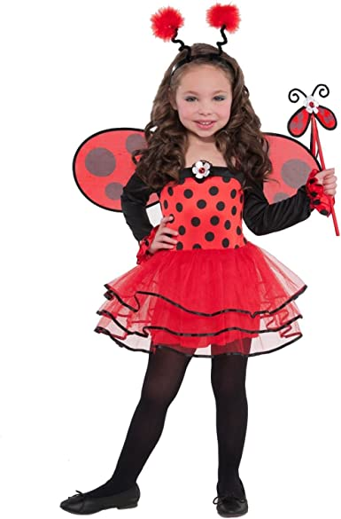 Ladybird Black//Red Spotty Fancy Dress//Halloween Costume//Tutu Mini Skirt//Dress M
