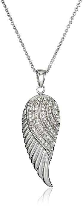 jewelry nk silver everyday necklace wings angel wing pendant double
