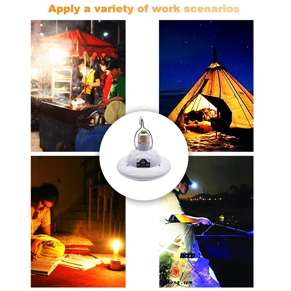 Tente de p/êche Camping GreeSuit Ampoule LED Portable /à /énergie Solaire avec Panneau Solaire pour randonn/ée
