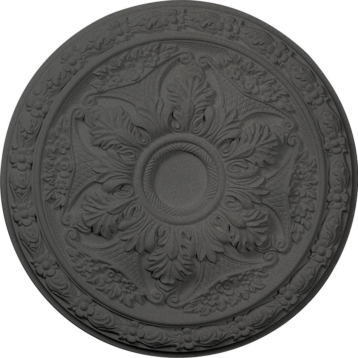 Ekena Millwork CM20BLSGS Baile Ceiling Medallion fits Canopies up to 3 1/4'', Steel Gray