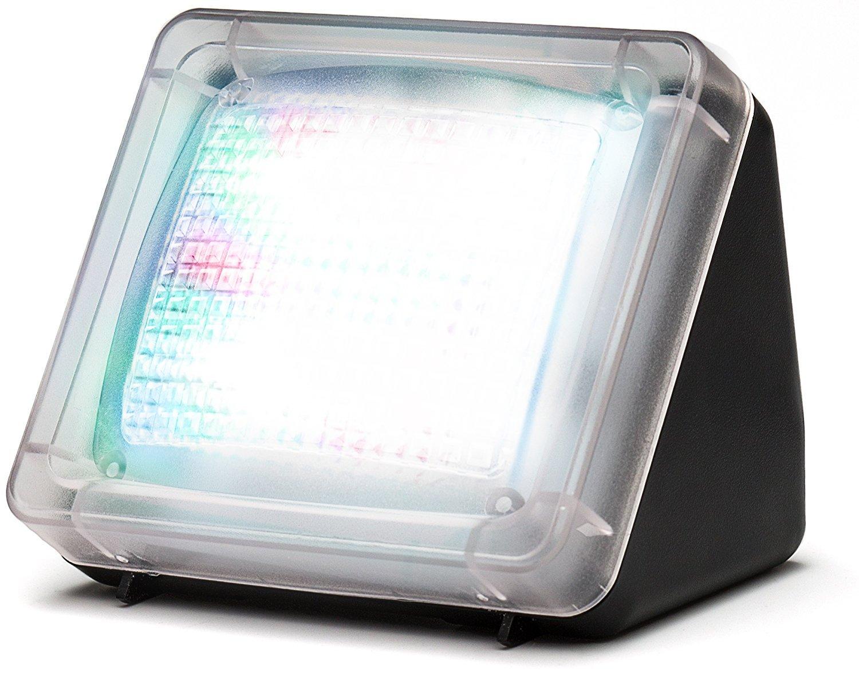 Movoja Simulateur de présence, TV factice anti-intrusion avec 20 LED colorées, 3 programmes, capteur de luminosité et minuteur TV factice anti-intrusion avec 20 LED colorées capteur de luminosité et minuteur MOV-LEDTV-22352
