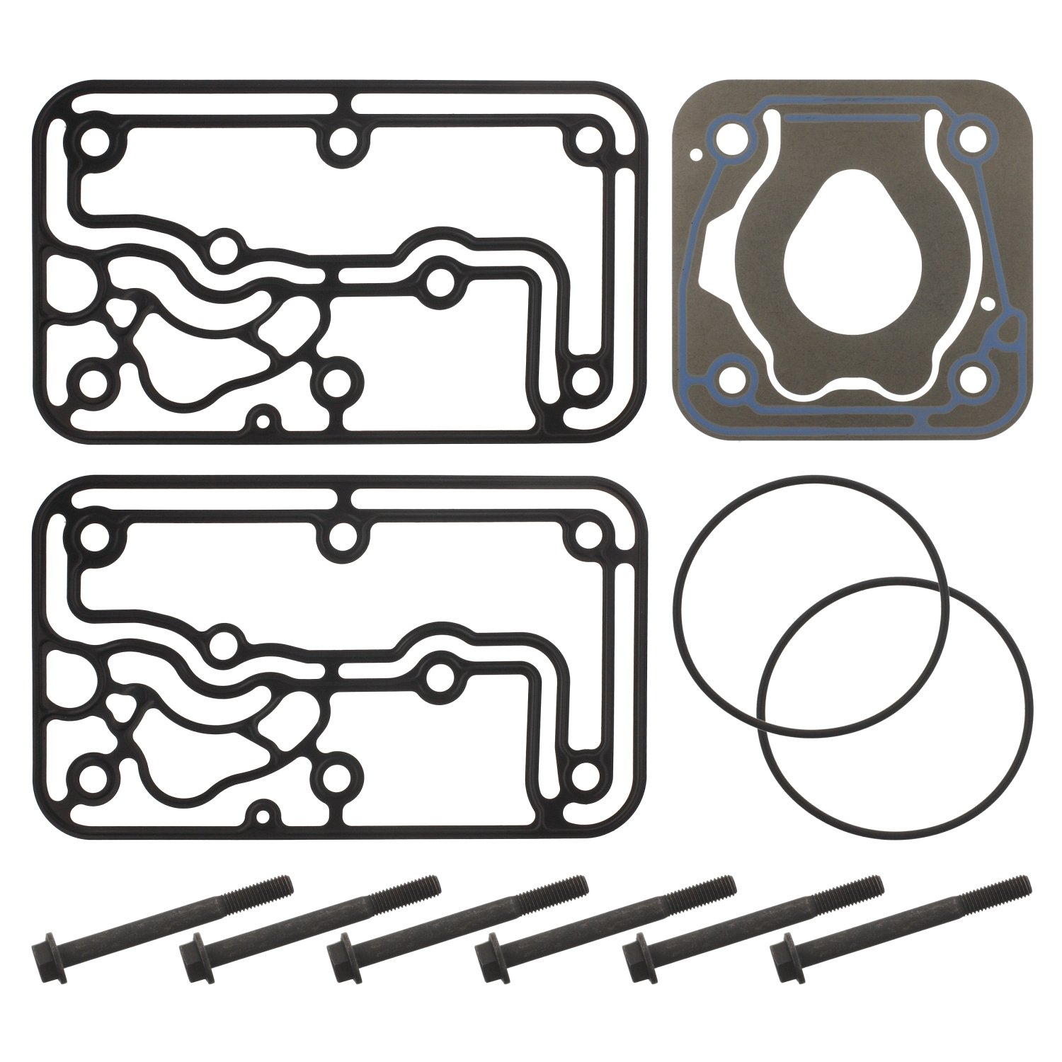 Pack of 1 kit lamella valve for air compressor without valve plate febi bilstein 37807 rep