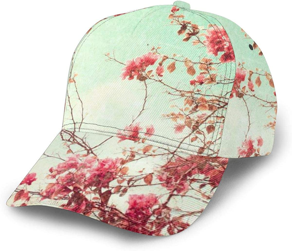 Flowers Unisex Unisex Curved Visor Hat Casual Hats Curved Adult Flat Cap Outdoor