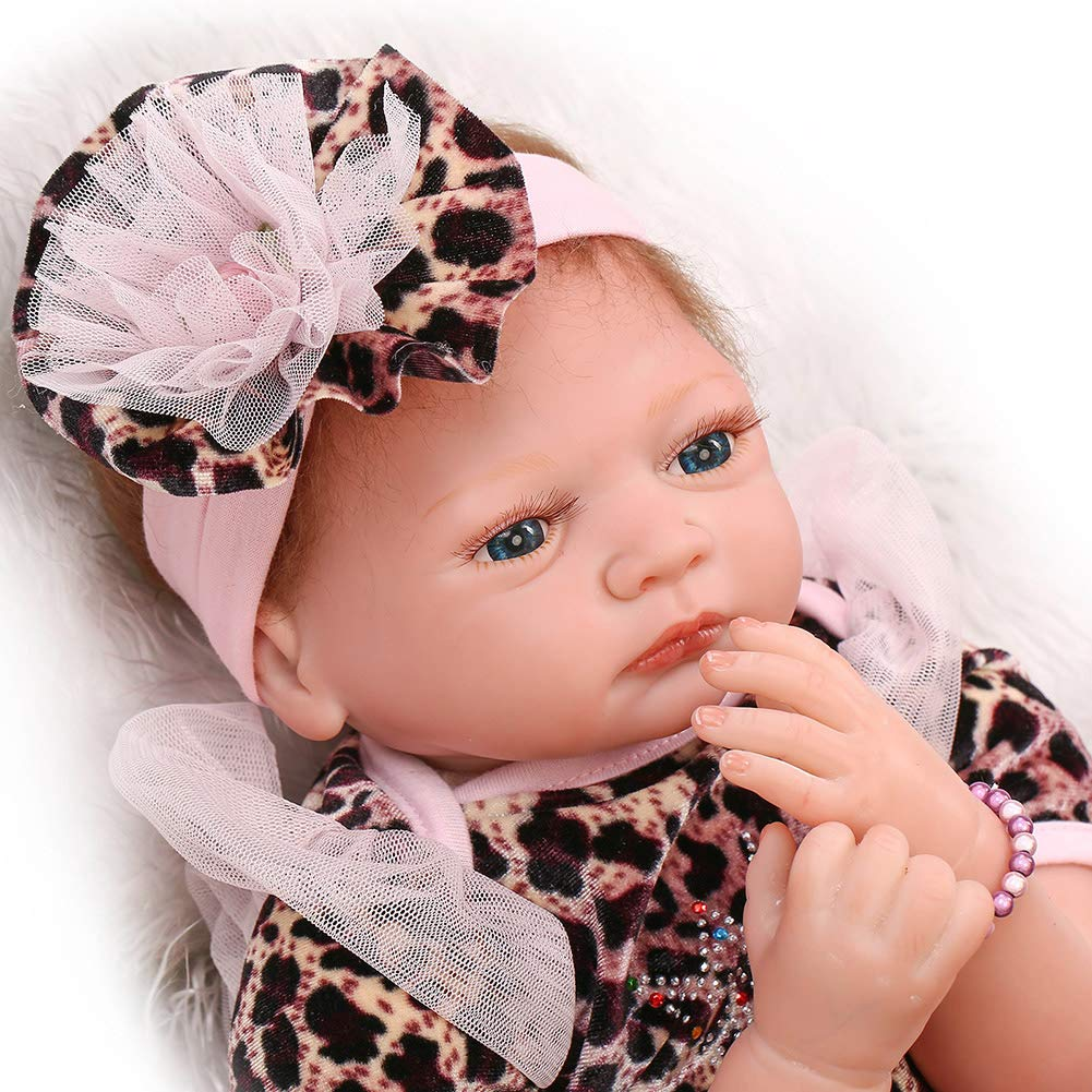 Baby Dolls Soft Silicone Vinyl Blau Eye Blond Hair Babies Girl Doll Lifelike Babies Playmate Gift 55cm Farbe1 55cm