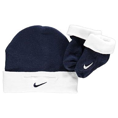 Nike - Sombrero - para bebé niño Azul Blue & White 0-6 Meses