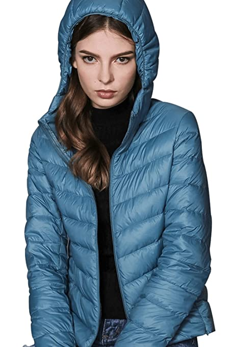2da2e1831e4 Oangel Women s Packable Down Jacket with Hood Hot Ultra Lightweight Short Down  Coat with 90% Down (L