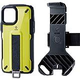 エレコム iPhone 11 Pro ケース アウトドア NESTOUT Trekking 指を通せるベルト付 [すばやく着脱可能な専用ホルダー付属] ライムイエロー PM-A19BNESTTYL
