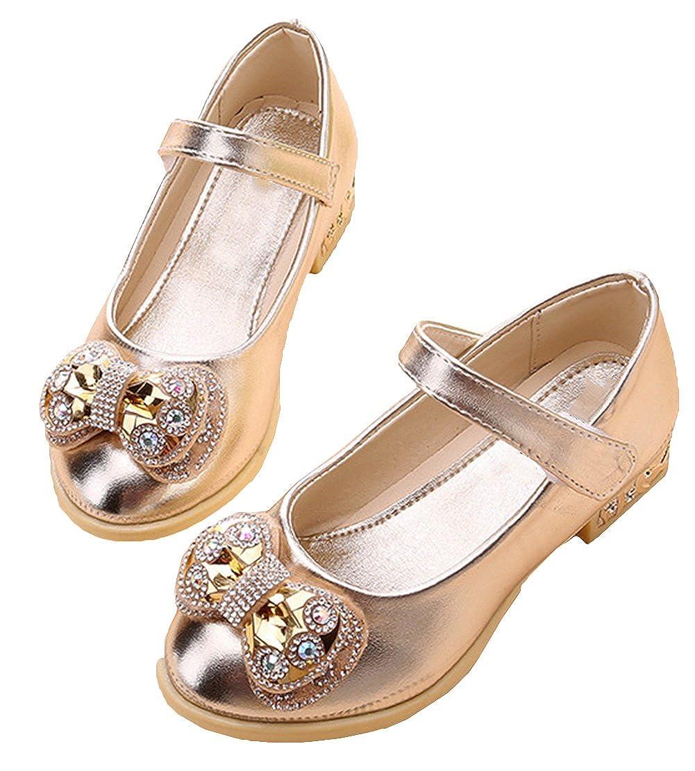 Scothen Princesse Gel/ée Partie Haut Talon Chaussures Sandales Talons Hauts Avec Art Diamants Enfants Festive Filles Ballerines Strappy Boucle Filles Chaussures /étudiants PU Chaussures de Danse