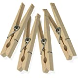 Honey-Can-Do Wood Clothespins with Spring, 150-Pack