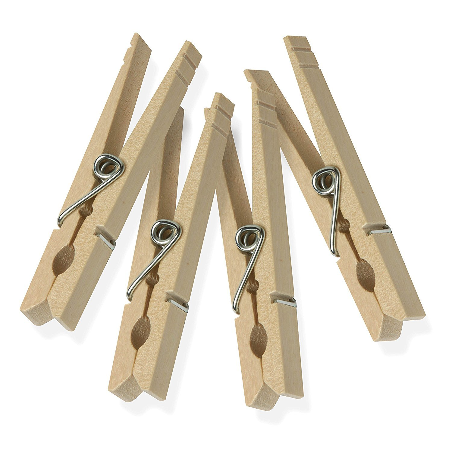 Honey Can Do Dry 01375 Wood Clothespins With Spring 50 Pack 33 Inches Length