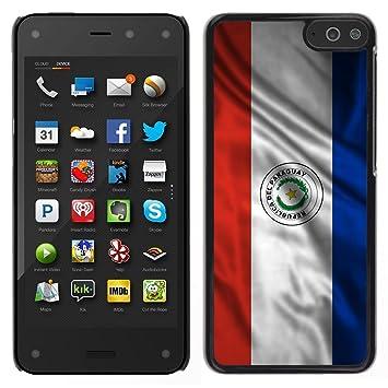 FJCases Paraguay Paraguayo Bandera Ondeante Carcasa Funda Rigida para Amazon Fire Phone