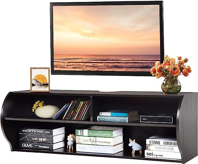 4 - Best Large Space Floating TV shelf: Tangkula Wall Mounted TV shelf