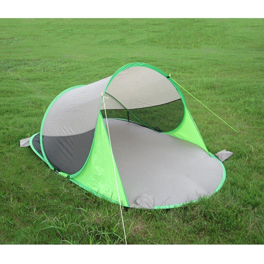 Enolla klappbar UV 1–2 Personen Strand Zelt schnellen Öffnen Schatten 245  145 cm  90 cm, grün