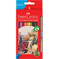 Faber-Castell Classic Colour Pencil, 12 Pack and 1 Gold Pencil, (16-115852-G)