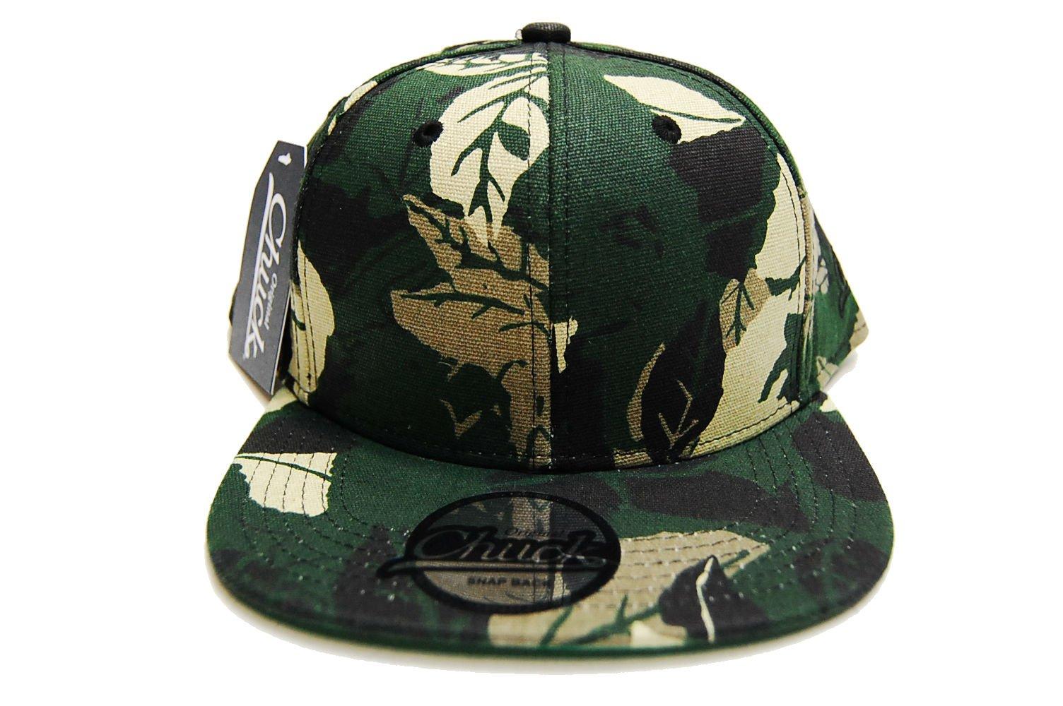 Chuck Originals Men's Camo Leopard Snake Skin Cap Hat Snapback (Multi)