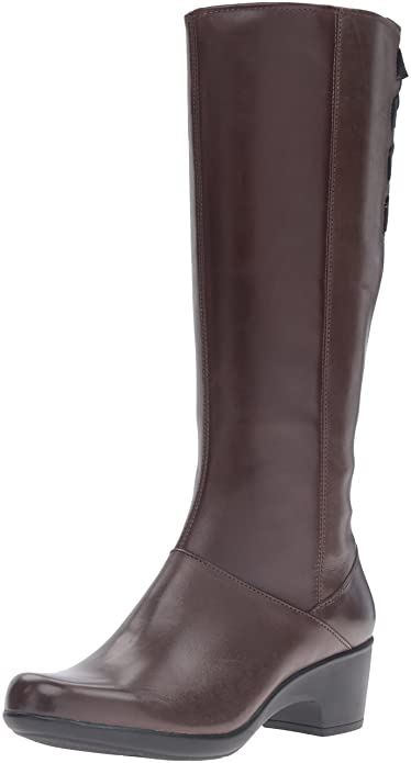Amazon.com   Clarks Women s Malia Skylar Riding Boot   Knee-High 1fe72490a9f