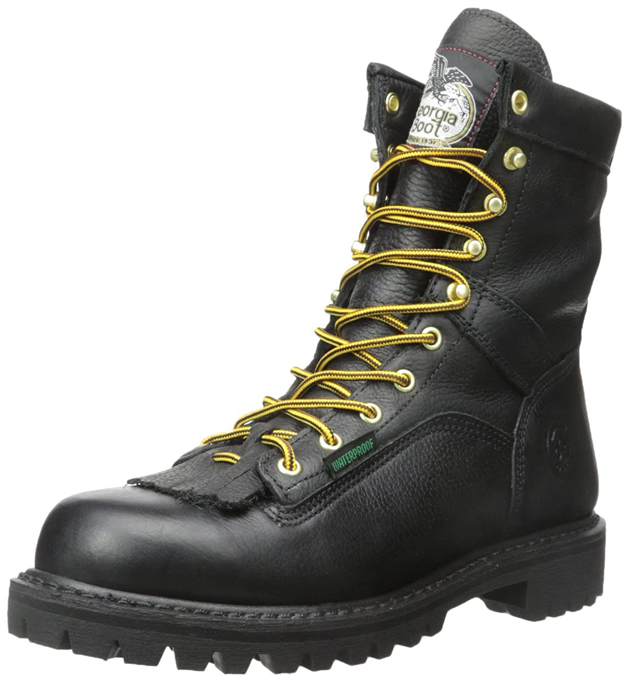 09296ae8a85 Georgia Boot Waterproof Lace-to-Toe Work Boot Black
