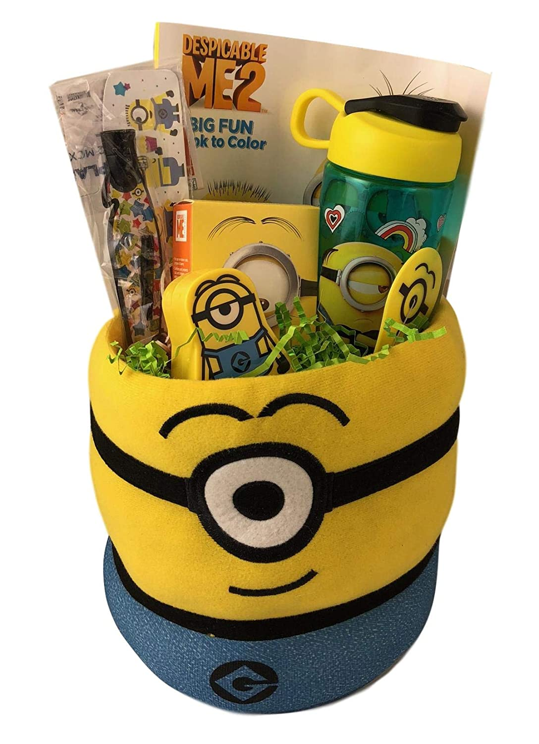 Amazon.com: Minion Sugar Free Easter Gift Basket for Kids Young Boys Girls Age 4 Up: Toys & Games