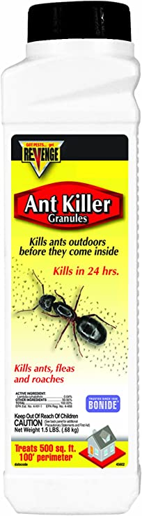 Amazon Com Bonide Bnd45602 Revenge Ant Killer Granules Ready To Use Outdoor Insecticide Pesticide 1 5 Lb Home Pest Repellents Garden Outdoor