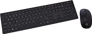 HP Pavilion 800 - Pack con teclado y ratón inalámbricos (delgado, estilizado, teclas optimizadas, indicador luminoso LED) negro