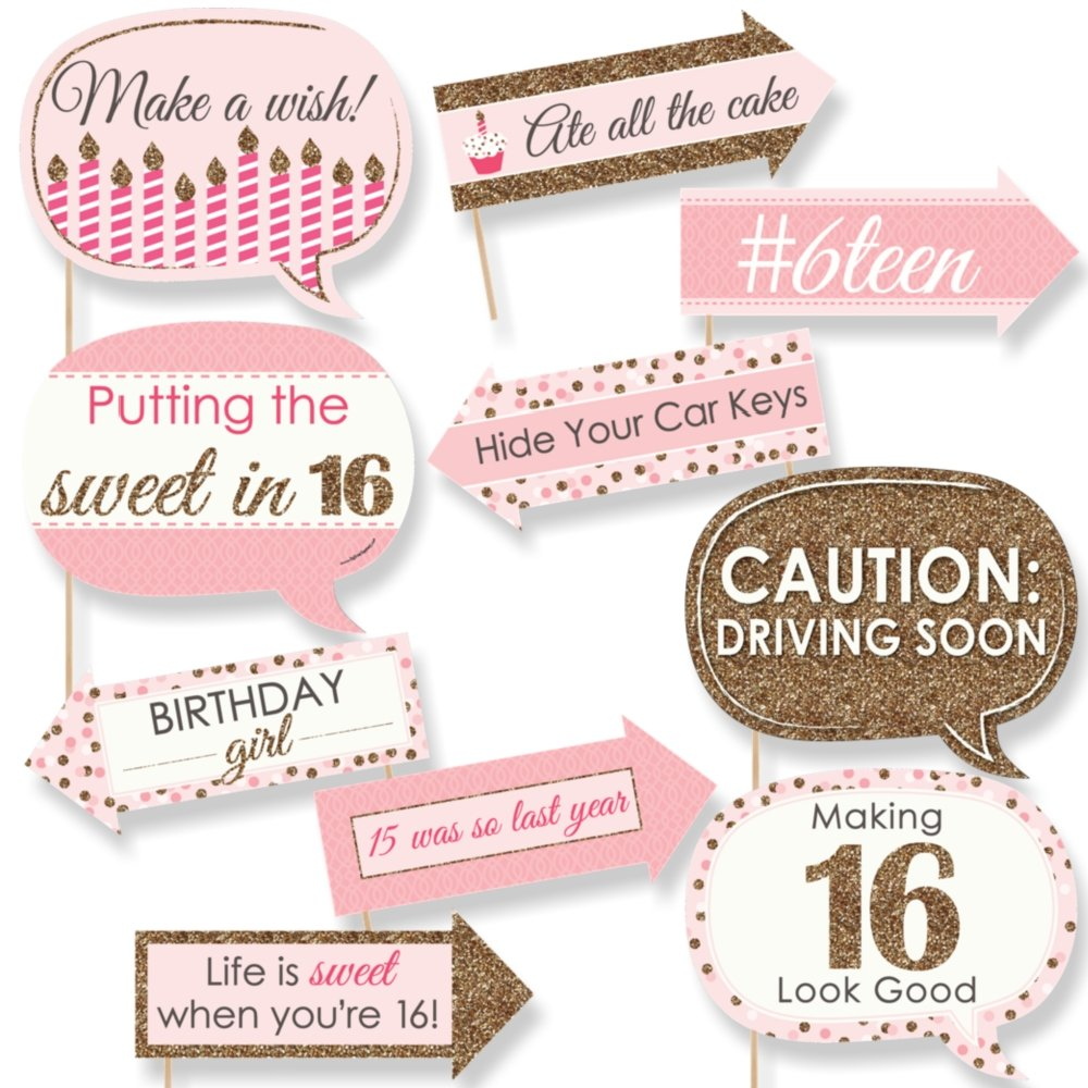amazon com sweet 16th birthday decorations party supplies 16th
