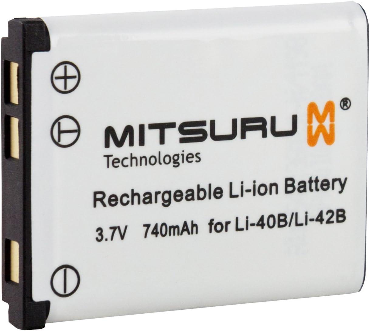 Mitsuru® batería para Aldi LI-42B LI42B BenQ LI-42B LI42B General Electric LI-42B LI42B Medion LI-42B LI42B Olympus LI-42B LI42B Ricoh LI-42B LI42B Rollei LI-42B LI42B Sanyo LI-42B LI42BSanyo LI42B re