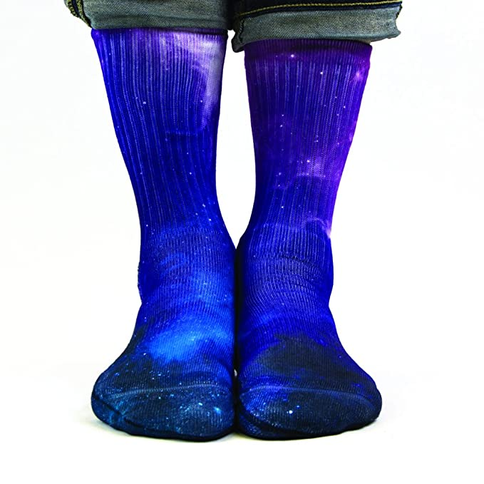 Samson® mano impreso 3d sublimación calcetines Galaxy espacio Tubo Redondo Odd moda calle Casual Calzado: Amazon.es: Ropa y accesorios