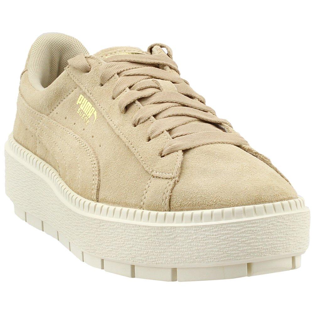 PUMA Women's Suede Platform Trace Sneakers B074KGKF4L 10 B(M) US|Safari/Marshmallow