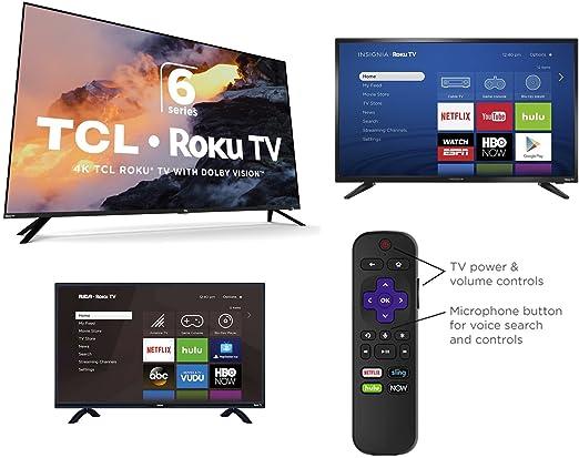Amazon com: [NEW 2018] Roku TV Voice remote with Pairing