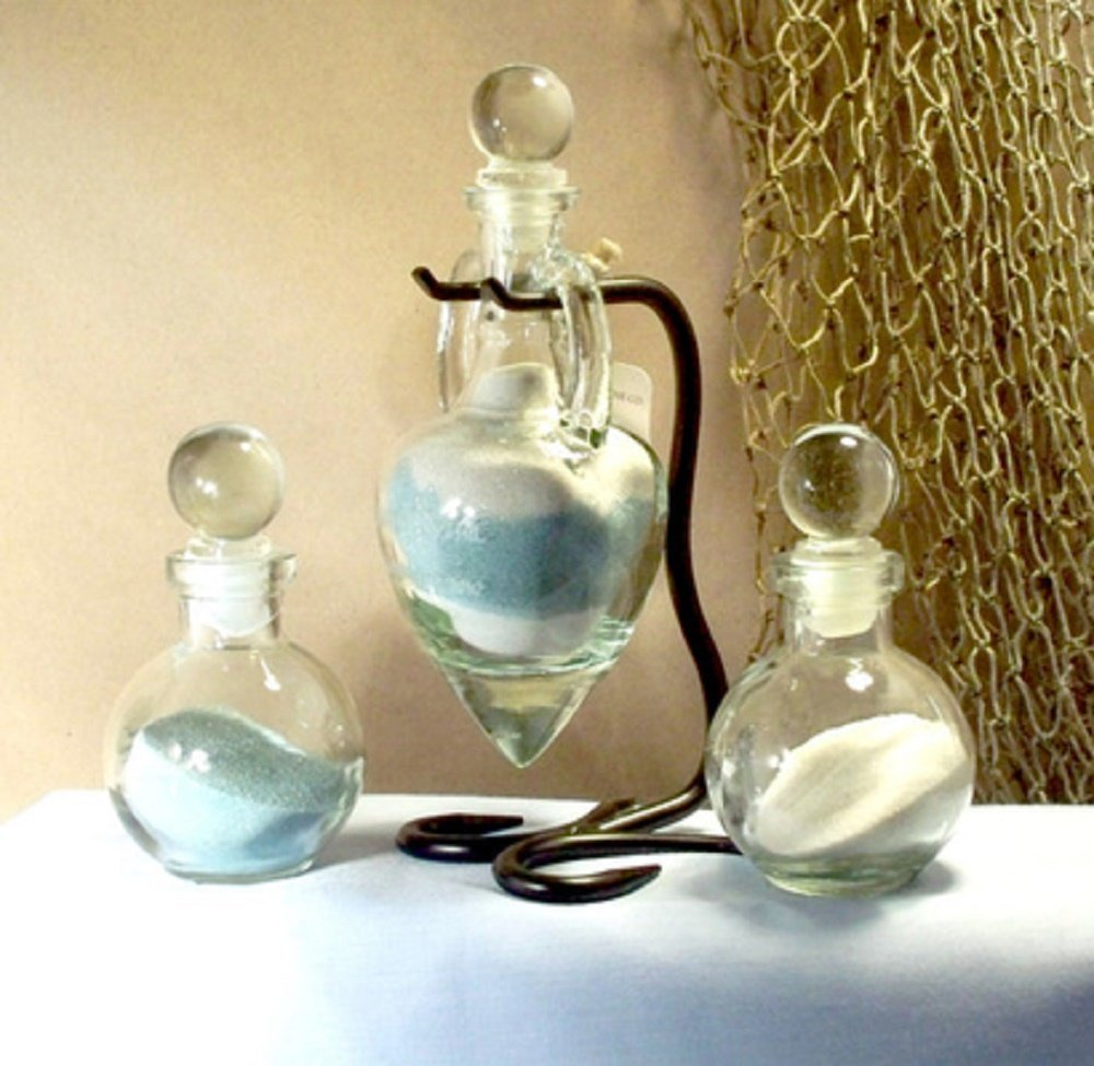 Personalized Unity Sand Ceremony Set, Wedding, Anniversary, Amphora with Glass Tops