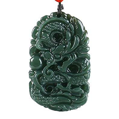 C1lint7785631 pure natural hand carved qing jade dragon necklace c1lint7785631 pure natural hand carved qing jade dragon necklace pendant amazon aloadofball Images