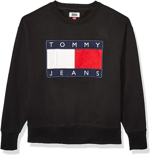 Grey Tommy Hilfiger Men/'s Flag Chest Logo Sweatshirt