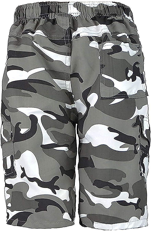 Llanura De Ni/ños /& Camuflaje Muchos Bolsillos Pantalones Cortos Ej/ército Ni/ños Estampado Cargo Militar